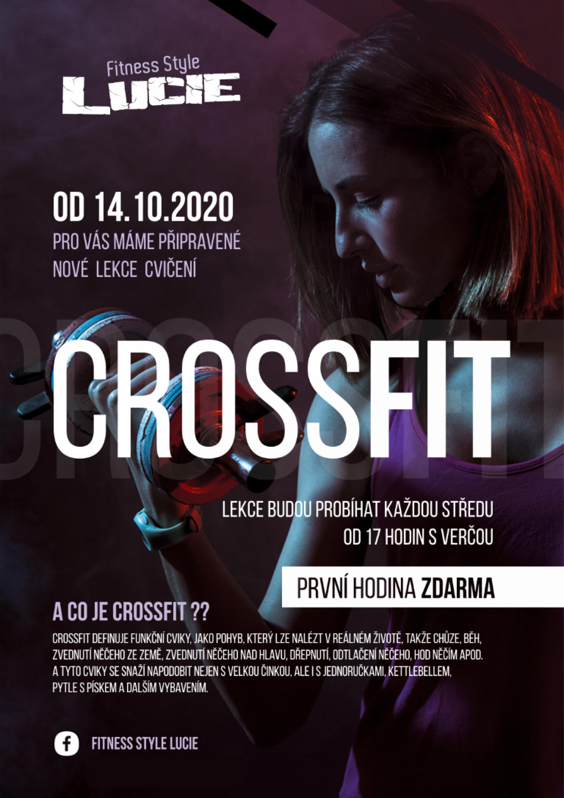 Od 14.10.2020 nové lekce cvičení - CROSSFIT